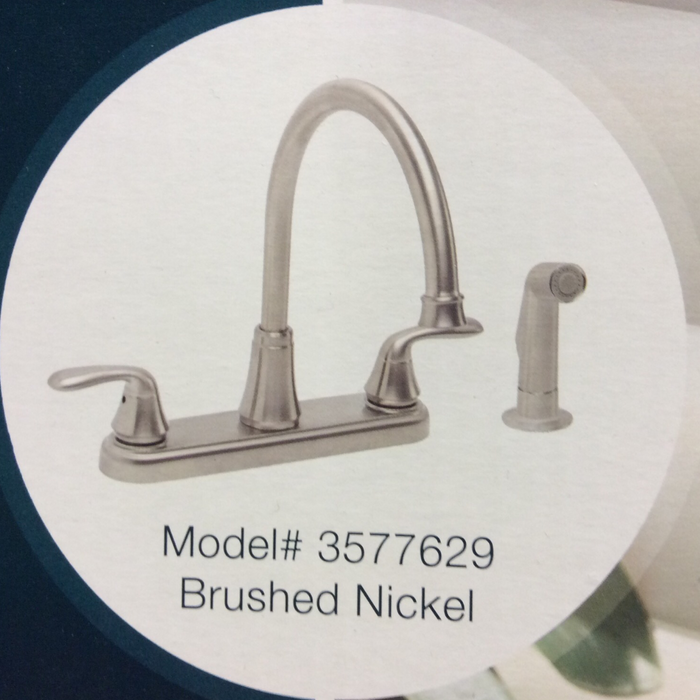 Waterfront – Premier To Handle Kitchen Faucet Brushed Nickel