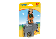 Playmobil 1.2.3. Zookeeper with Elephant - 9381 Playmobil Giddy Goat Toys