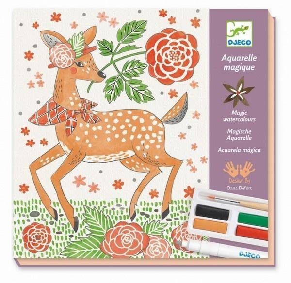 Djeco Watercolours Art Set - Dandy of the Woods. DJ08602 Arts and Crafts Giddy Goat Toys