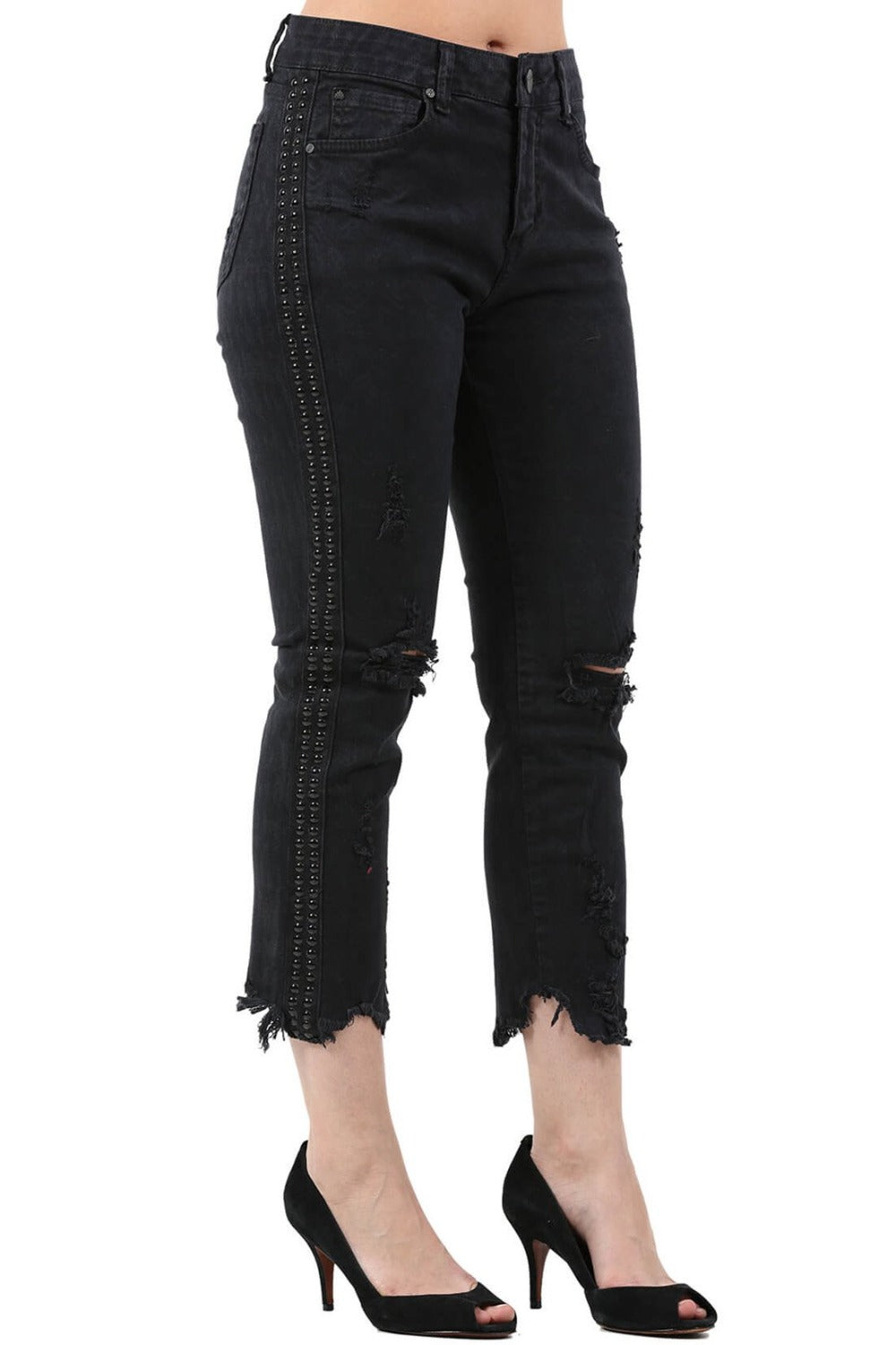 CALÇA ITS&CO CROP MIX SKINNY