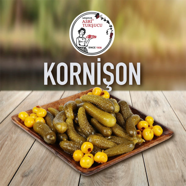 Asri Tursucu Natural Homemade Cornishon (Tiny Cucumbers) 1kg