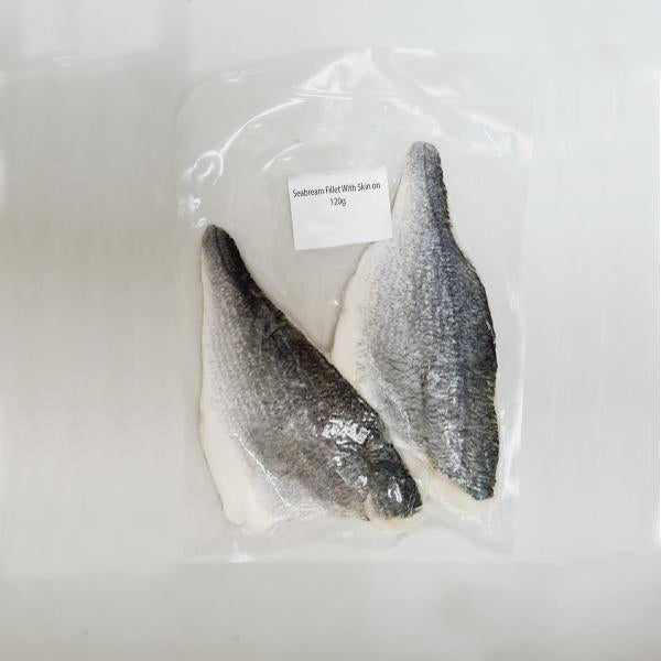 Mediterranean (Cipura) Seabream Fillet skin on, boneless - Frozen
