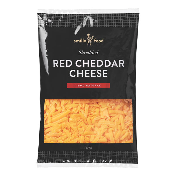 Smilla Shredded Cheddar Cheese 200g - LeMed