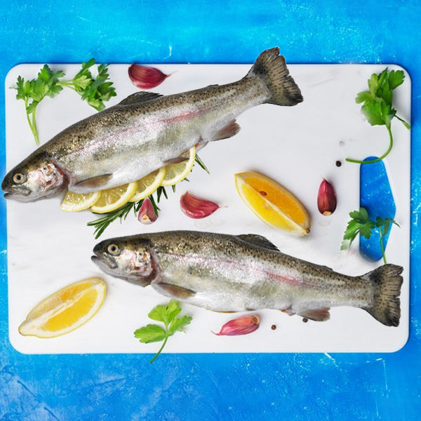 Mediterranean Rainbow Trout Whole Gutted 250g - Frozen