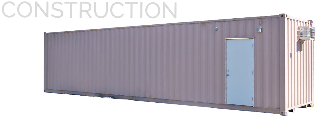 shipping container for construction sites