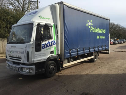national delivery of landscaping products by tail-lift lorry