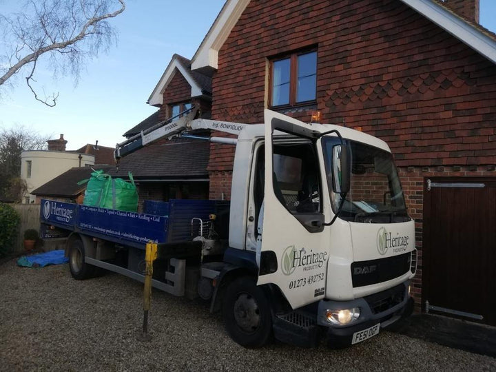 Heritage garden waste bulk bag collection lorry