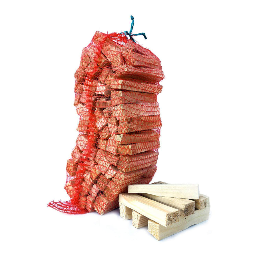 kiln dried kindling in net bags sustainably sourced