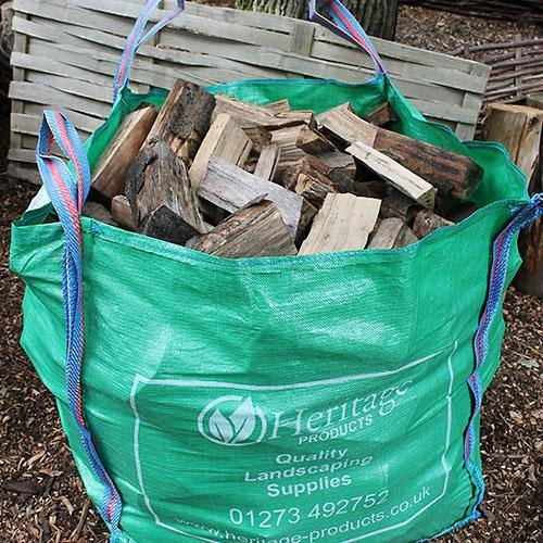 Kiln dried logs in bulk bag