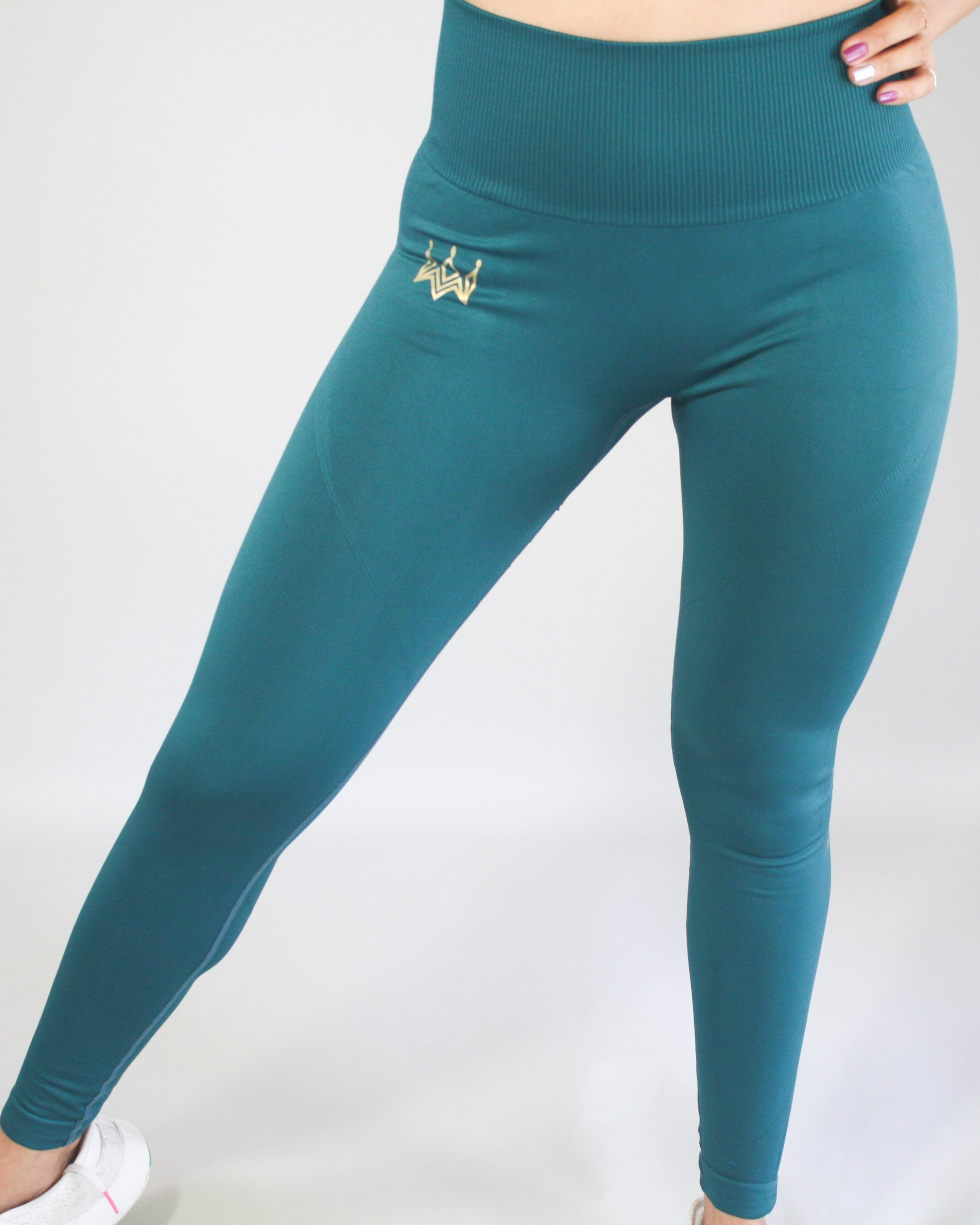 Heiress Seamless Yoga Leggings - Forest Green