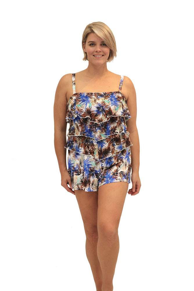 Ever Blade -  3 Tiered Bandeau Romper