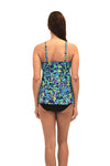 Sea Glass - Hi Neck Flyaway Top