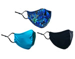 Adult Mask Solid 3-Pack - Cool