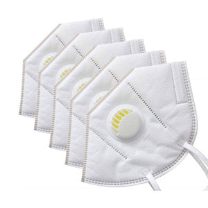 KN95 Disposable Face Masks (10 Pack with Ventilating Valve)