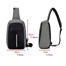 Load image into Gallery viewer, Minimalist Sling Bag with USB Port