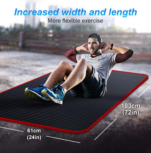Extra Thick No-Slip Exercise Mat for Yoga and Home Fitness