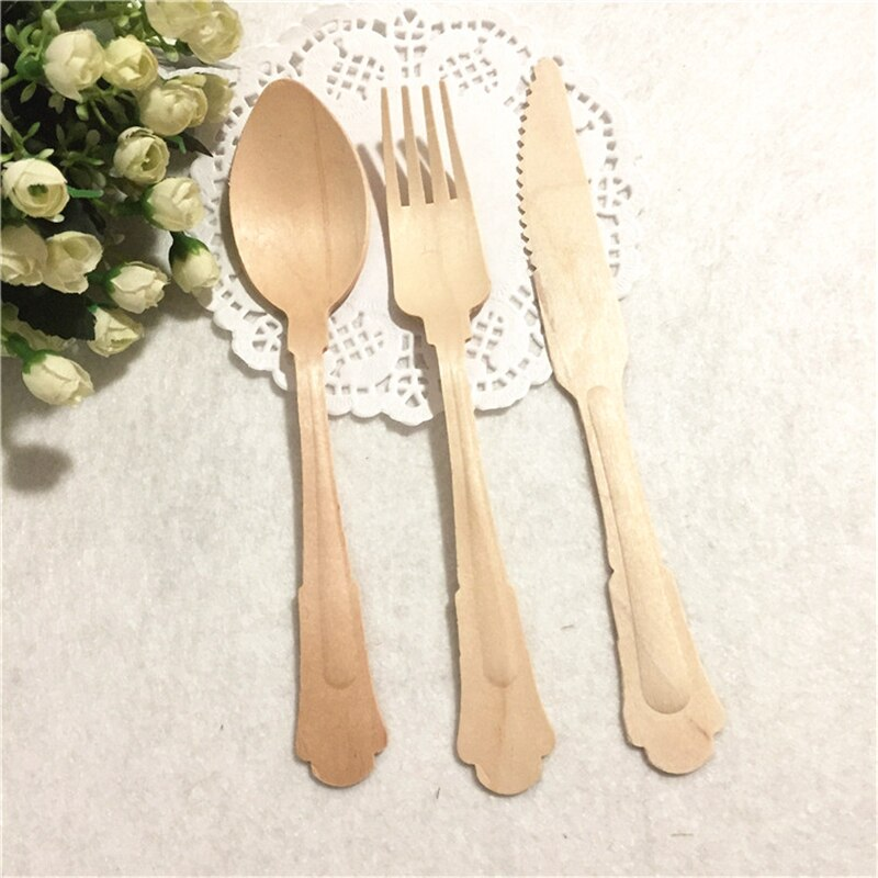 60 piece set of Birchwood Forks, Knives, and Spoons