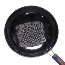 Load image into Gallery viewer, Stainless Steel Chainmail Dish Scrubber