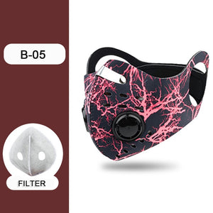 Double Vent Face Mask for Running and Cycling