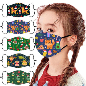 Children's Christmas-Themed Face Masks