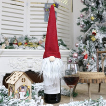 Load image into Gallery viewer, Christmas Gnome Wine Covers