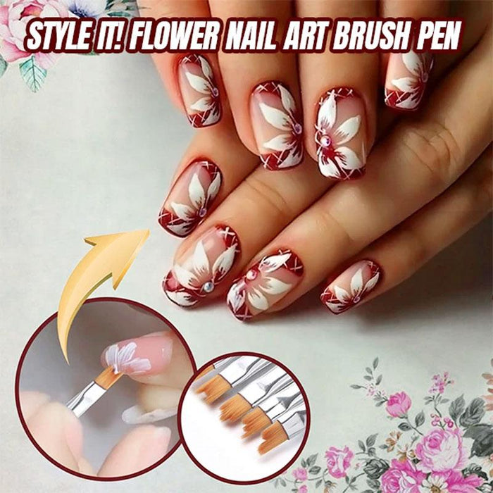 Flower Nail Art Brush Pen (8 pcs)