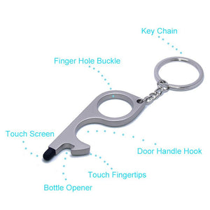 No Touch Door Opener Tools With Keychain Pendant