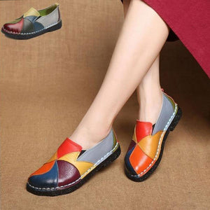 New Fashion Women's Leather Flat Shoes
