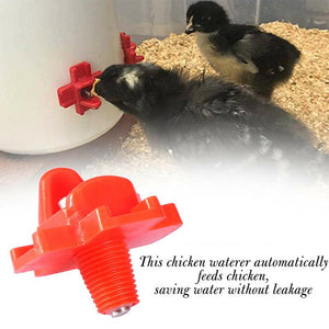 Horizontal Side Mount Chicken Waterer (10 PCS)