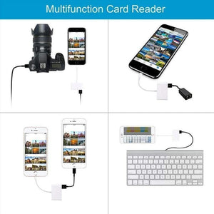 3-in-1 SD TF USB Card Reader OTG Adapter