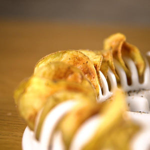 Microwave Oven Baked Potato Chips