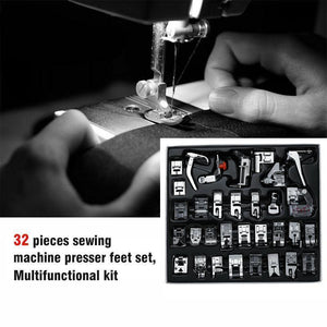 Sewing Machine Presser Foot, 32pcs in Kit