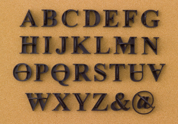 Press-In Letters Traditional Uppercase