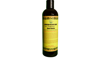 LIQUID BLACK SOAP (Acne, Shea, Mango, Charcoal) Net Weight: 13 oz