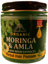 Load image into Gallery viewer, ORGANIC MORINGA & AMLA HERBAL HAIR POMADE (w/Neem extracts) Net Weight: 4 oz.