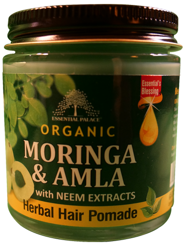ORGANIC MORINGA & AMLA HERBAL HAIR POMADE (w/Neem extracts) Net Weight: 4 oz.