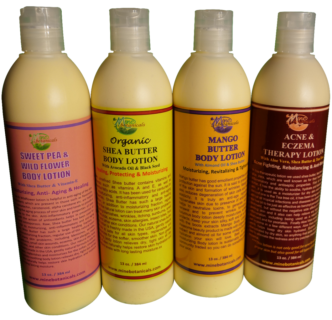 BODY LOTION (Organic) Net Weight: 13 oz.