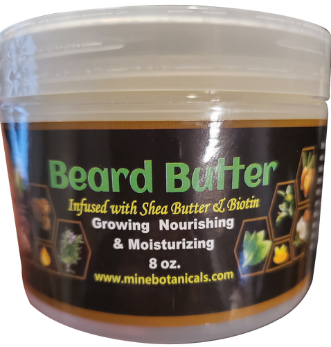 BEARD BUTTER with BIOTIN Net Weight: 8 oz.