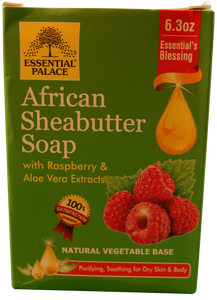 SHEA BUTTER SOAP with Raspberry & Aloe Net Weight: 6.3oz.