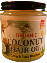Load image into Gallery viewer, ORGANIC COCONUT HAIR OIL Net Weight: 4 oz.