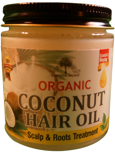 ORGANIC COCONUT HAIR OIL Net Weight: 4 oz.