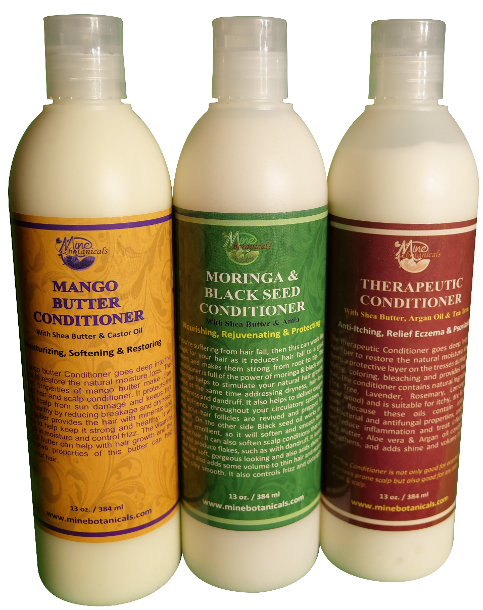 HAIR CONDITIONER( Therapeutic, Mango Butter, Moringa) Net Weight: 13 oz.