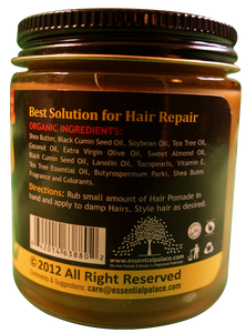 ORGANIC BLACK SEED & TEA TREE HERBAL HAIR POMADE (w/ Coconut Oil) Net Weight: 4 oz.