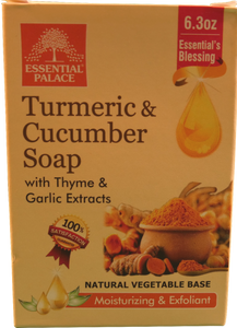 TURMERIC & CUCUMBER with THYME & GARLIC EXTRACTS SOAP (Natural Vegetable Base) Net 6.3 oz