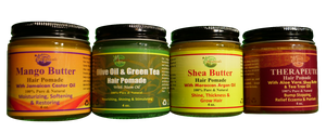 HAIR POMADE (Pure & Natural) Net Weight: 4 oz.
