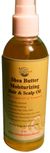 Load image into Gallery viewer, SHEA BUTTER MOISTURIZING HAIR & SCALP OIL with Argan Oil & Vitamin E (For Dry Scalp & Damaged Hair) Net Weight: 4 fl oz.