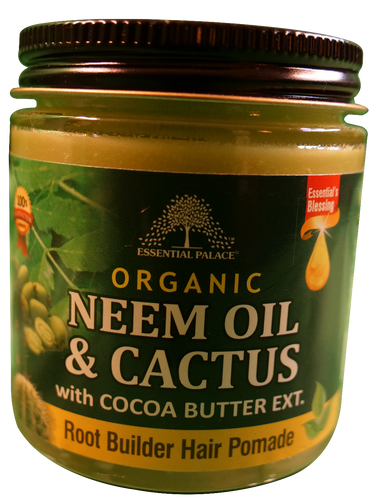 ORGANIC NEEM OIL & CACTUS HERBAL HAIR POMADE (w/Cocoa Butter Ext.) Net Weight: 4 oz.
