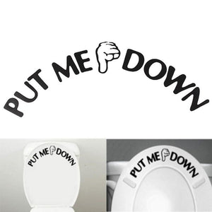 Down Toilet Sticker