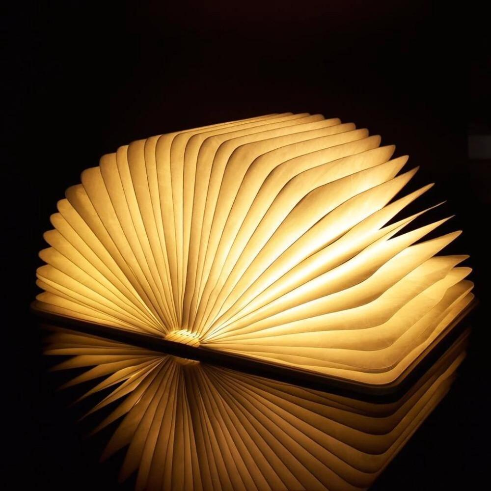 LED Wooden Book Lamp