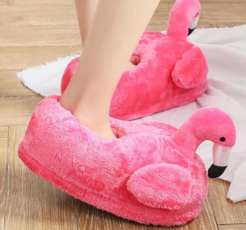 Flamingo Fuzzy Slips